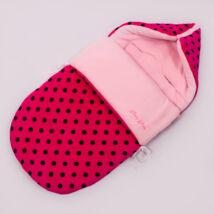 Berry Baby Klasszikus Bundazsák babahordozóba és mózesbe: pink fekete pöttyös
