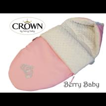 Berry Baby Crown bundazsák: 04/B- Pink -Grey Bubble -babahordozó autós ülésbe és mózesbe