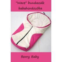 Berry Baby wave babahordozó bundazsak_feher_pink