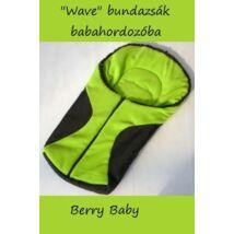 Berry Baby Wave babahordozó bundazsák: fekete-kiwi