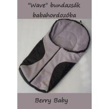Berry Baby Wave babahordozó bundazsák: fekete-szürke