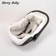 Berry Baby Pamut újszülött szűkítőbetét hordozóba 0-4 hó- Szürke alapon fehér csillagos (univerzális)