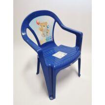 Műanyag gyerekszék: kék