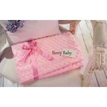 Berry Baby Minky (buborékos velúr) babapléd- rózsaszín