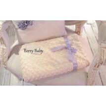 Berry Baby Minky (buborékos velúr) babapléd- ekrü