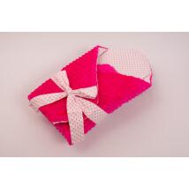 Berry Baby Kókuszpólya kivehető gerinctámasszal: pink Minky-rózsaszín szíves