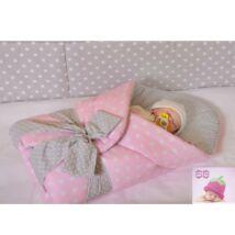 Berry Baby BASIC Kókuszpólya kivehető gerinctámasszal: Rózsaszín pöttyös