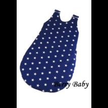 Berry Baby Pamut baba hálózsák- sötétkék alapon fehér csillagos