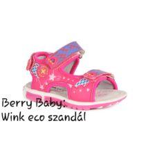 Wink eco- nyitott orrú lány szandál- PINK : 21-es méret