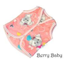 Berry Baby wellsoft mellény- corall kiskutyás 0-6 hó