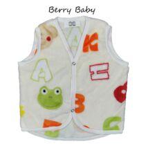 Berry Baby wellsoft mellény - Ekrü alapon betűs 1-2 éveseknek