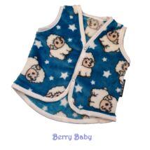 Berry Baby wellsoft mellény- kék bárányos 0-6 hó