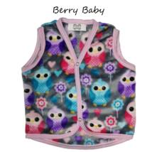 Berry Baby wellsoft mellény - Szürke baglyos 1-2 éveseknek