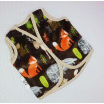 Berry Baby wellsoft mellény - Barna erdei állatos 0-6 hó