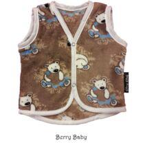 Berry Baby wellsoft mellény - Barna jegesmacis 6-12 hós
