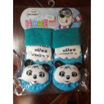 Baba zoknicipő: kék panda, 19-22 méret