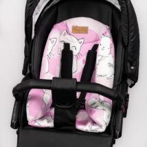 Babakocsi szűkítőbetét-alátét: Sweet Kitty rózsaszín cicás