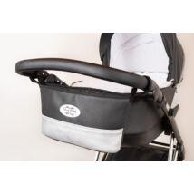 Berry Baby Comfort babakocsi tároló-ECO bőr: Black Silver -univerzális
