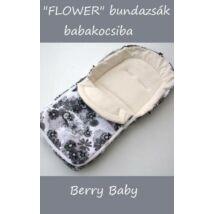 Berry Baby Flower Bundazsák babakocsihoz: szürke