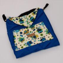 Berry Baby Hordozós takaró- vízlepergetős: királykék baglyos