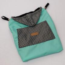 Berry Baby Hordozós takaró- vízlepergetős: menta-grafit pöttyös