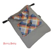 Berry Baby Hordozós takaró- vízlepergetős-: szürke- szivárványos+ KÖZBÉLÉS+ polár belső oldal