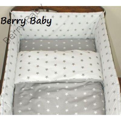 Babaágynemű Berry Baby-3 részes (bővíthető): Szürke csillagos-fehér csillagos
