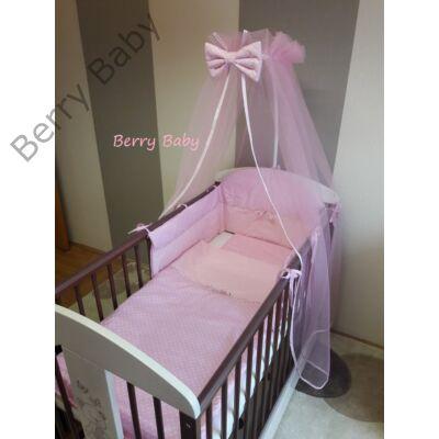 Babaágynemű Berry Baby-3 részes(bővíthető): Babarózsaszín pöttyös+rózsaszín