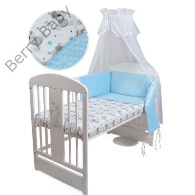 Selymes kék minky+macis babaágynemű szett (60-as kiságyba) - Minky ... 4fa20fa5fc