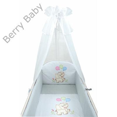 Szürke elefántos hímzett prémium babaágynemű szett (bővíthető)