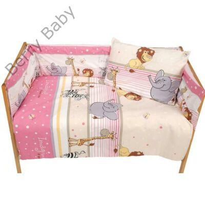 Babaágynemű- Berry Baby Basic- Rózsaszín szafaris