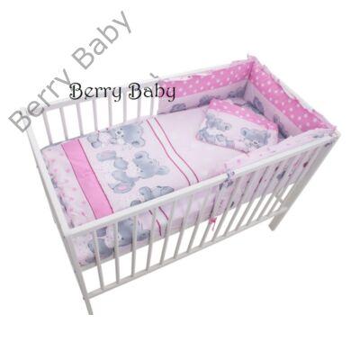 AKCIÓS  Rózsaszín macis babaágynemű szett (bővíthető) - AKCIÓS-3 ... c75c19b06b