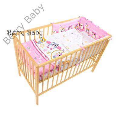 Babaágynemű- Berry Baby Basic-Rózsaszín nagy baglyos
