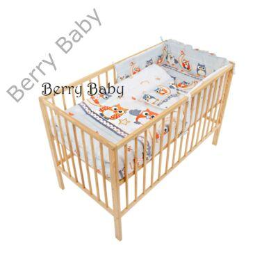 Babaágynemű- Berry Baby Basic- Szürke nagy baglyos babaágynemű szett