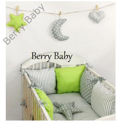 """Berry Baby Luxus babaágynemű szett- """"Lime"""""""