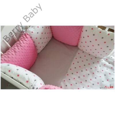 """Berry Baby Luxus babaágynemű szett- """"ROZ minky star"""""""