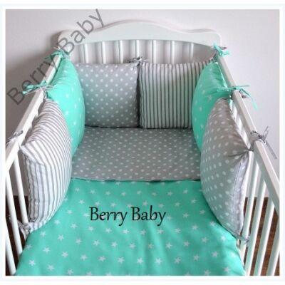 "Berry Baby Luxus babaágynemű szett- ""Turquoise Star"""