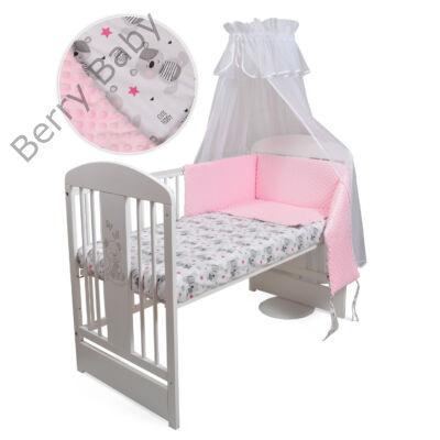 Selymes rózsaszín minky+ macis babaágynemű szett (60-as kiságyba ... 021d75fb95