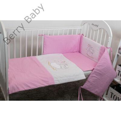 Berry Baby SWAN babaágynemű szett: hímzett szatén hattyúval
