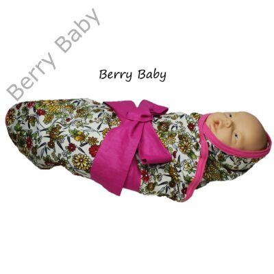 Virágos wrap baba pólya