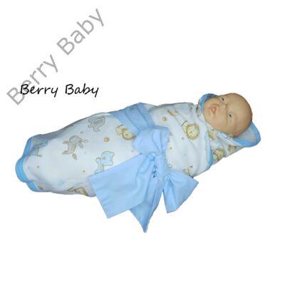 Kék szafaris Wrap újszülött pólya