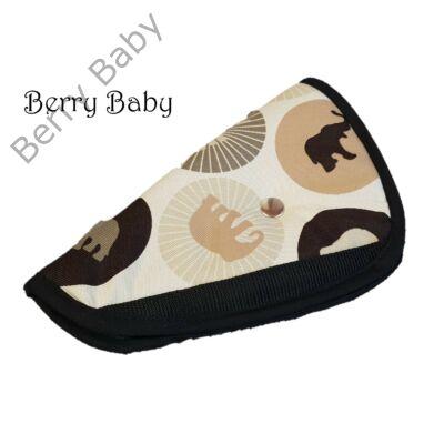 Biztonsági öv elterelő- öv elvezető gyerekeknek a Berry Baby-től: barna elefánt