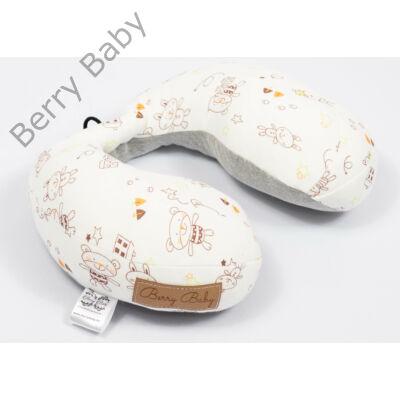 Berry Baby nyakpárna-utazópárna: bézs macis hurkolt pamut