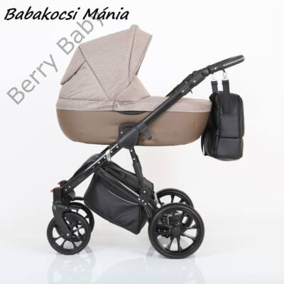 Berry Baby CORRADO multifunkciós babakocsi szett (autós hordozóval és adapterrel!): CR6 Black