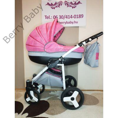 Berry Baby Lux 3in1 babakocsi szett (autós hordozóval és adapterrel): Z-11 -GÉL KERÉKSORRAL