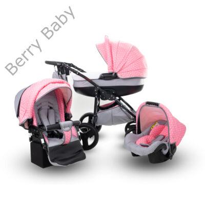Berry Baby Lux (2019) 3in1 babakocsi szett (autós hordozóval és adapterrel): Z-17 -GÉL KERÉKSORRAL