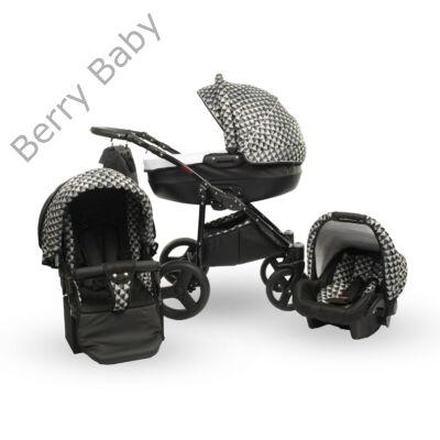 Berry Baby Lux  3in1 babakocsi szett (autós hordozóval és adapterrel): Z-29 -GÉL KERÉKSORRAL