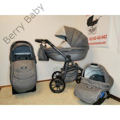 Berry Baby Macaron 3in1 multifunkciós babakocsi szett (autós hordozóval és adapterrel): Grey len