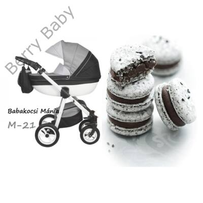 Berry Baby Macaron 3in1 multifunkciós babakocsi szett (autós hordozóval és adapterrel): M-21