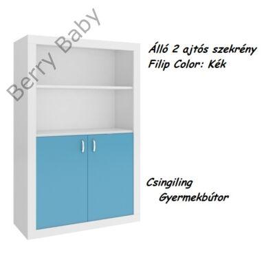 Filip COLOR 2 ajtós álló szekrény: kék